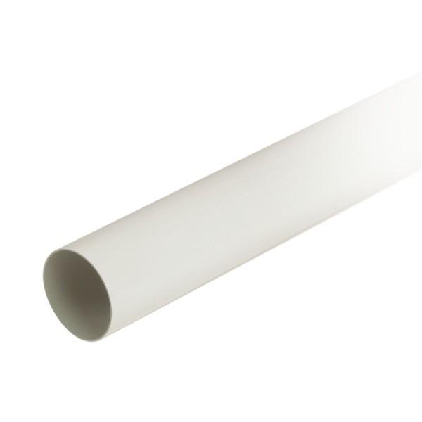 Tuyau de descente pour gouttière PVC Blanc Nicoll, Diam80 cm, L 4 m