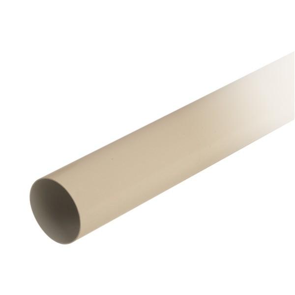 Tuyau de descente pour gouttière PVC Sable Nicoll, Diam80 cm, L 4 m