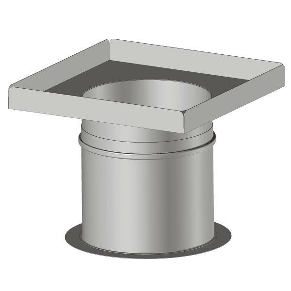 Plaque plénum étanche 200x480 mm pour conduit Double Paroi Isolé