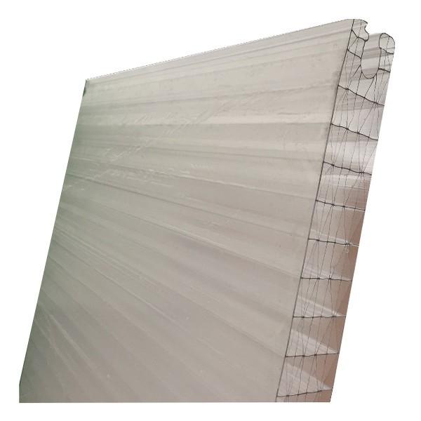 Polycarbonate emboitable opale 40mm long 1 8m toiture for Plaque polycarbonate alveolaire prix