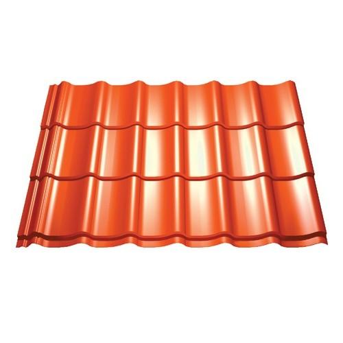 Panneau tuile pour couverture - ep 0,5 mm, couleur terracota