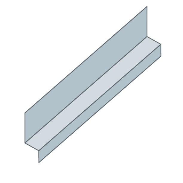 rive contre mur pour bac acier long 2 10 m couleur au choix toiture. Black Bedroom Furniture Sets. Home Design Ideas