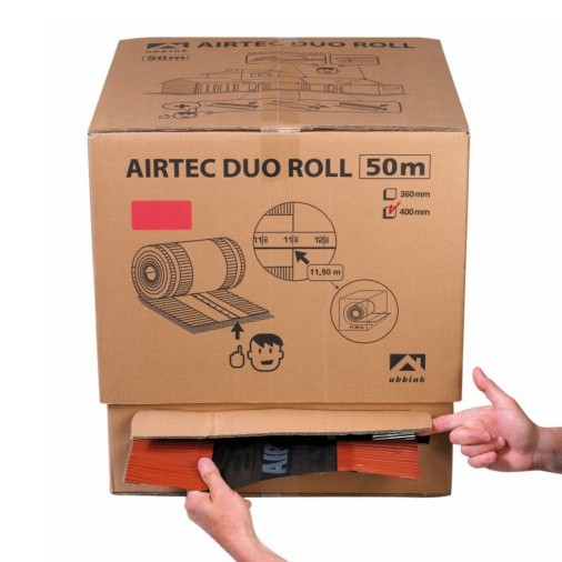 Closoir Airtec Duo Roll, coul Brun, larg 240 mm en carton de 50 M