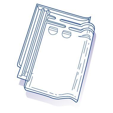 Tuile de verre Monopole n°3, ref LR n°3, en carton de 10 U