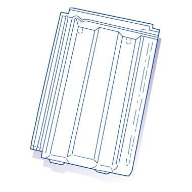 Tuile de verre Mega 10 Migeon, ref LR n°68, carton de 6 U