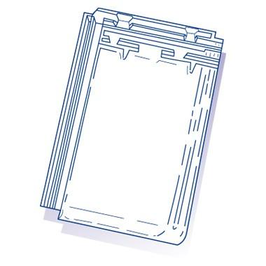 Tuile de verre Alpha 10 - IRB, ref LR n°71, carton de 6 U