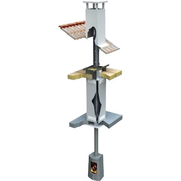 Système plain pied plafond horizontal pour Double Paroi Isolé ø180mm