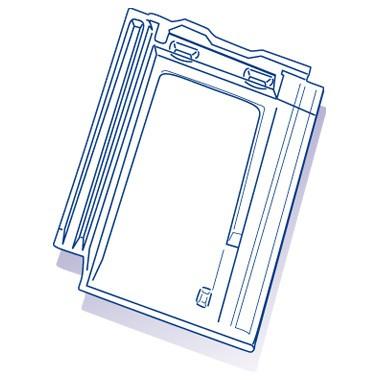Tuile de verre Arboise/Beauvoise, ref LR n°82, carton de 10 U