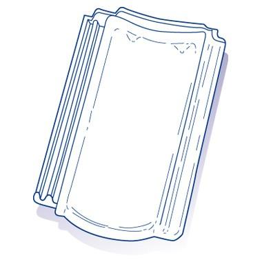 Tuile de verre Bisch PV12-PF13, ref LR n°25, carton de 8 U
