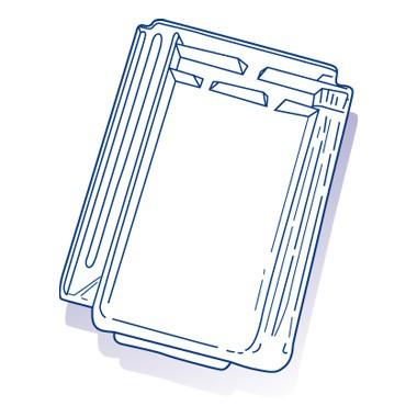 Tuile de verre Demie Résidence, ref LR n°16, carton de 10 U