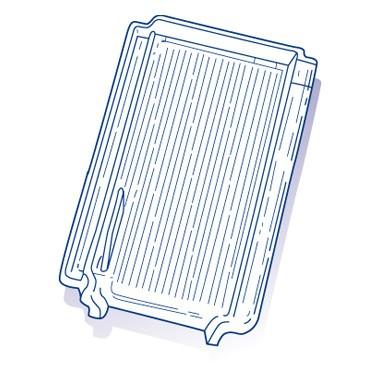 Tuile de verre Gilardoni Essone, ref LR n°542, carton de 6 U