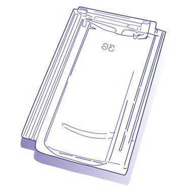 Tuile de verre JPV, ref LR n°F36, carton de 8 U
