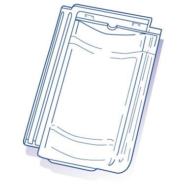 Tuile de verre Jura, ref LR n°54, carton de 8 U