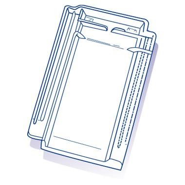 Tuile de verre Lambert 18/20m², ref LR n°67, carton de 8 U
