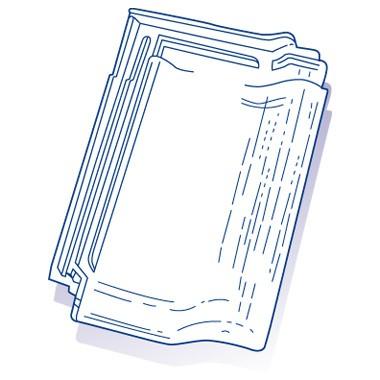 Tuile de verre Panne Bisch, ref LR n°24, carton de 8 U