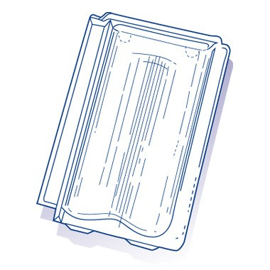 Tuile de verre Provinciale, ref LR n°19, carton de 8 U