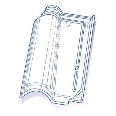 Tuile de verre Romane TBF, ref LR n°5, carton de 8 U