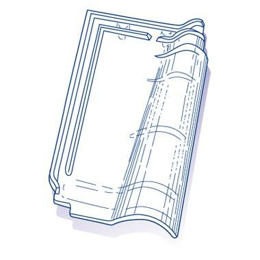 Tuile de verre Rhône Alpes, ref LR n°13, carton de 8 U