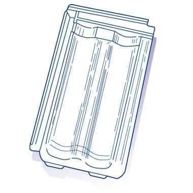 Tuile de verre Standard 14 (Dedr), ref LR n°18, carton de 8 U