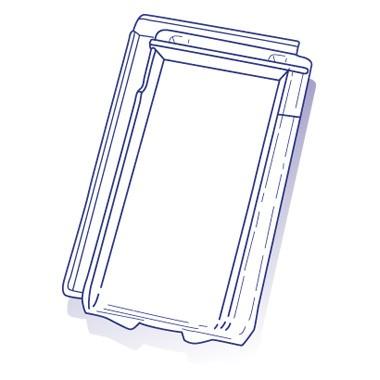 Tuile de verre Standard Migeon/Jeandelaincourt, ref LR n°553, par 8 U