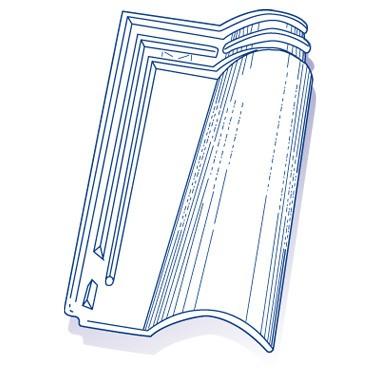 Tuile de verre Tégusol (ancien modèle), ref LR n°22, carton de 8 U