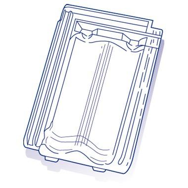 Tuile de verre Tradi 13, ref LR n°42, carton de 8 U