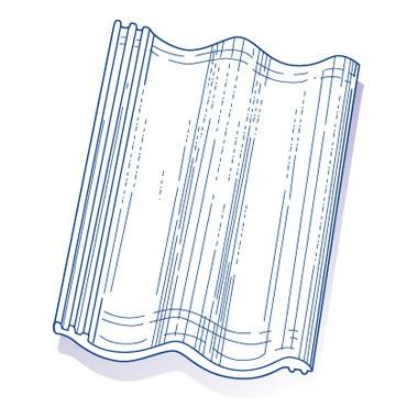 Tuile de verre Tradipanne (Panne Béton), ref LR n°B4, carton de 6 U