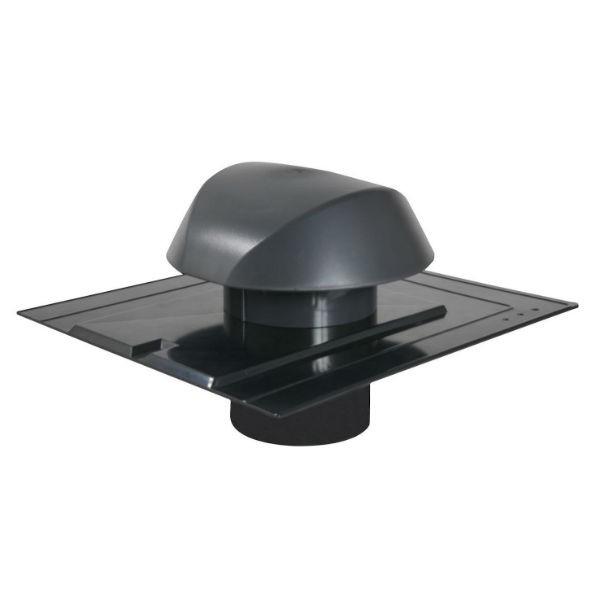 Chapeau de Ventilation Anthracite Atemax ⌀125mm Nicoll VVA12A Ardoise