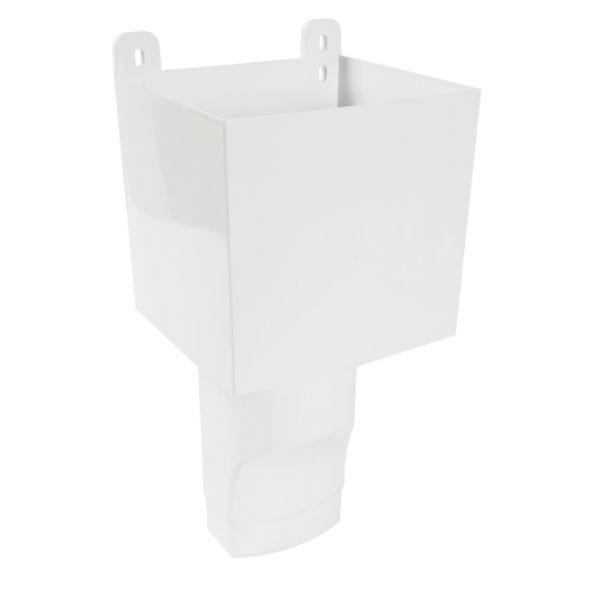 Boîte à Eau pour descendant ovoïde 105 x 76 Blanc Nicoll BAO107B