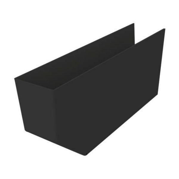 Cache pannes Noir 100x225x1200mm Nicoll CPAN1012N PVC