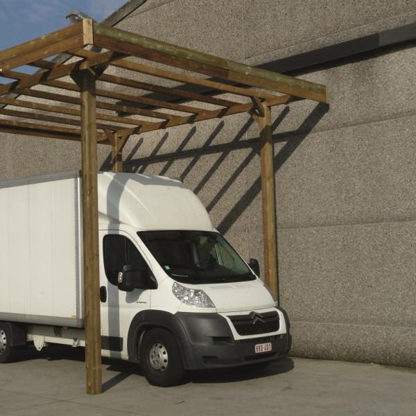 Carport bois modulable SOLID 4 x 5 x 4 m - Traitement autoclave