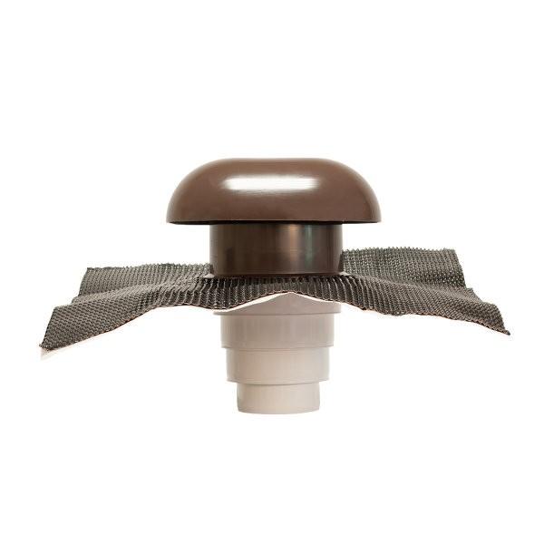 Chapeau de Toiture diamètre 80 à 125mm marron CVC125
