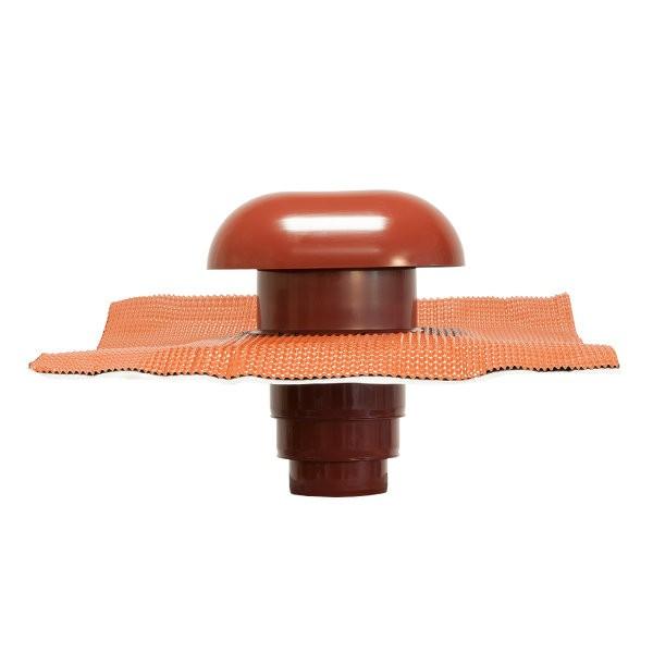 Chapeau de Toiture diamètre 80 à 125mm Tuile CVC125