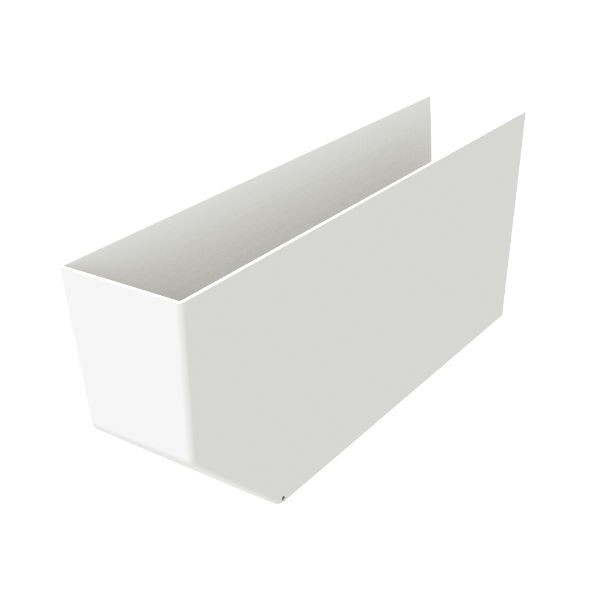 Cache pannes Blanc 80x225x500mm Nicoll CPAN805B PVC