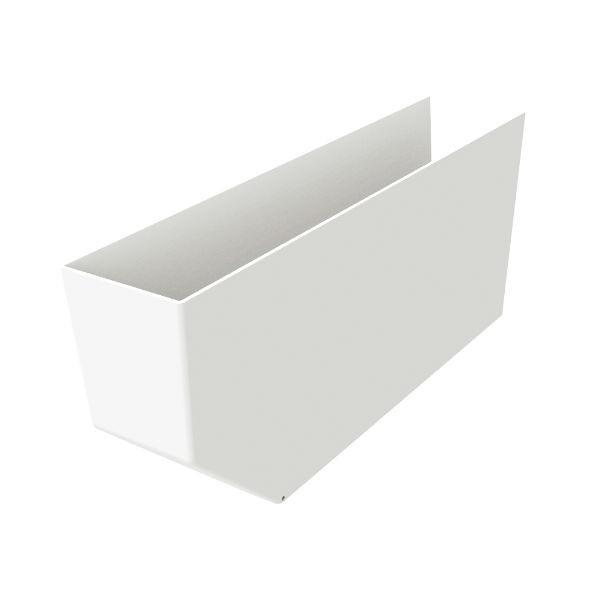 Cache pannes Blanc 80x225x1000mm Nicoll CPAN810B PVC