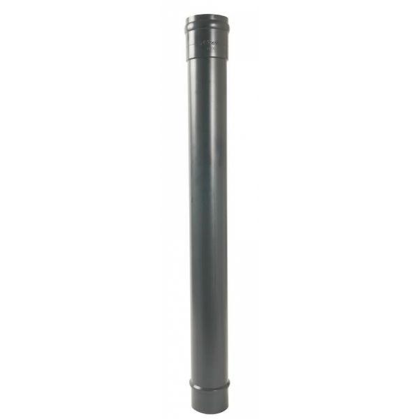 Dauphin Droit ⌀ 100 mm Anthracite pour Gouttière Nicoll, 1 m