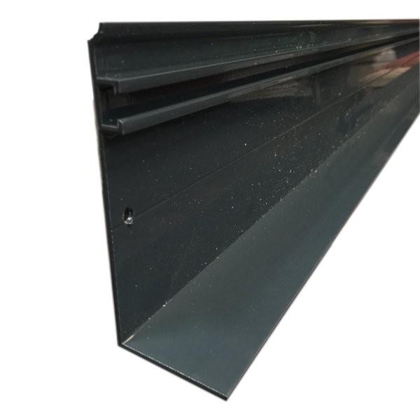 Faitière aluminium universelle - Gris (RAL 7016) - 16, 32 et 55 mm - Longueur 3 à 6 m