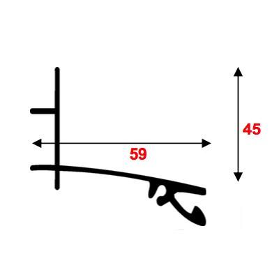 Kit Faitière supérieure - Alu - 16 et 32 mm - Longueur de 3 m à 7 m