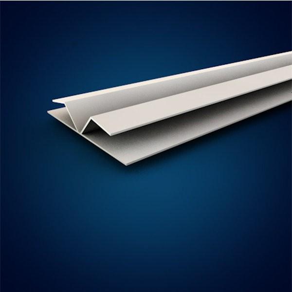 Finition double pour bande de jonction blanc, longueur 4m, SDC204