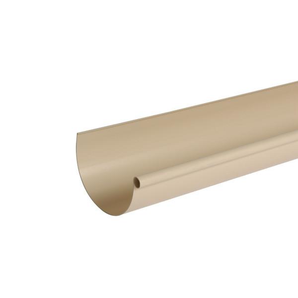 Gouttière PVC demi-ronde à coller Sable Nicoll, dev 25 cm, long. 4m