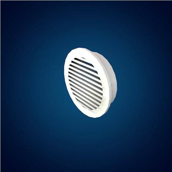 Grille de ventilation pour lambris sous-face diamètre 70mm Blanche SV7