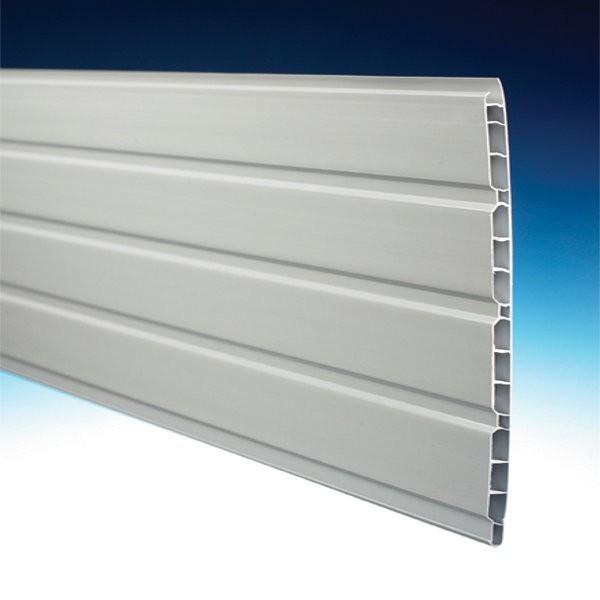 Lambris Alvéolaire PVC Gris 25 x 1cm, Long 4m