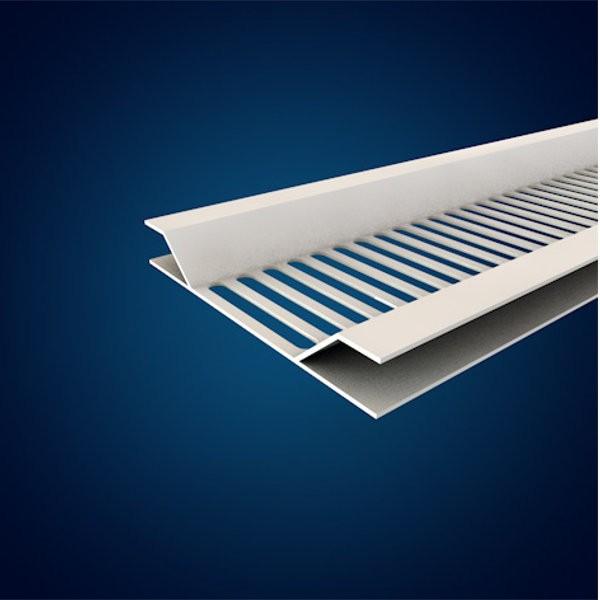Profilé de ventilation Blanc pour lambris sous-face 0,27x5m, SV237