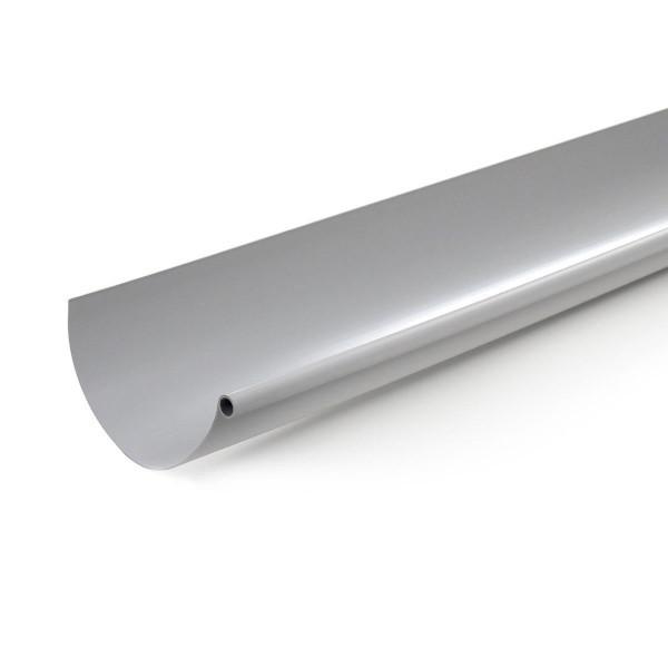 Gouttière PVC demi-ronde à coller Gris Nicoll, dev 33 cm long. 4m