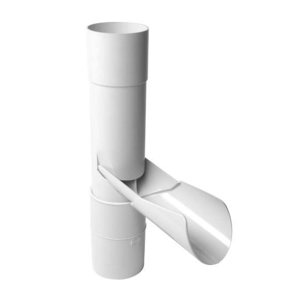 Récupérateur eau pluviale à clapet Blanc Diamètre 80 mm Nicoll REP80B