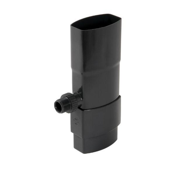 Récupérateur eau pluviale ovoïde Anthracite Diam 90x56mm Nicoll REP95A