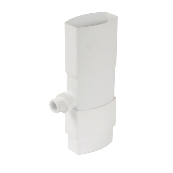 Récupérateur eau pluviale ovoïde Blanc Diam 90 x 56 mm Nicoll REP95B