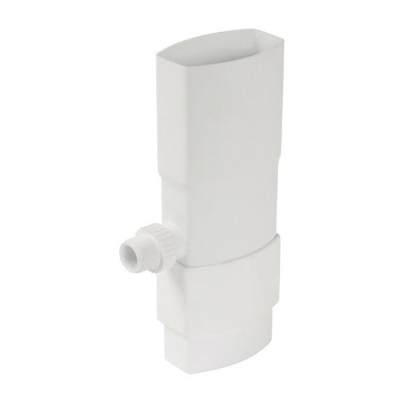 Récupérateur eau pluviale ovoïde Blanc Diam 105 x 76 mm Nicoll REP107B