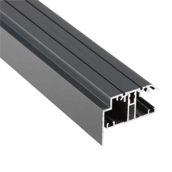 Kit Rive Profil T + Capot - 16 mm - Gris RAL 7016 - Longueur de 2 m à 7 m