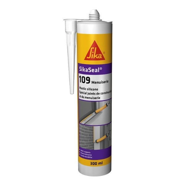 Mastic Silicone SIKASEAL 109 Gris pour Menuiserie, 12x300ml